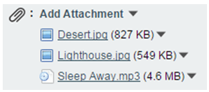 attachment list