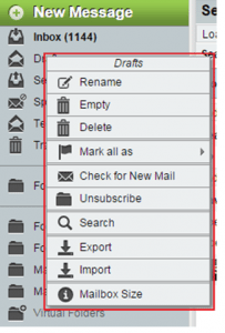 email folder functions