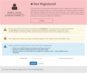 Not_Registered_Email_Alias